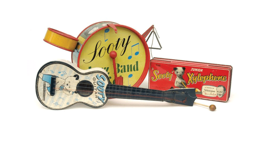 Sooty Three Musical Instruments 1950s-60s.