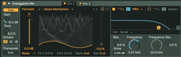 Wavetable's Automated Filter Preben Goes to Acapulco Chords