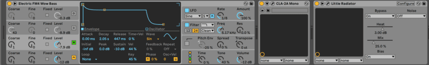 Bass Setting on Ableton's Operator