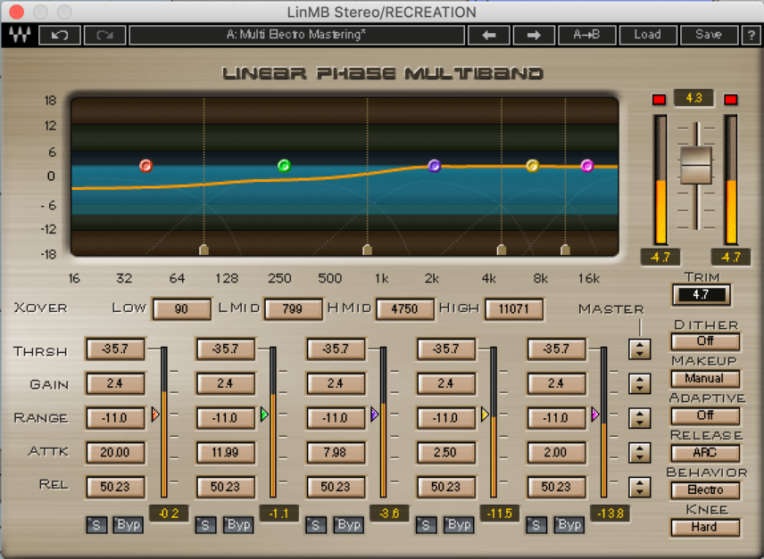 Drum Rack Multi-Band Compression