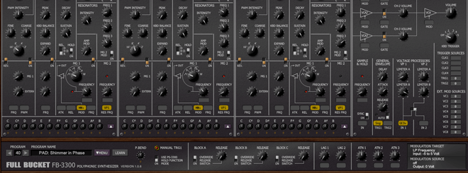 Full Bucket Music FB-3300 ten of the best analogue synths