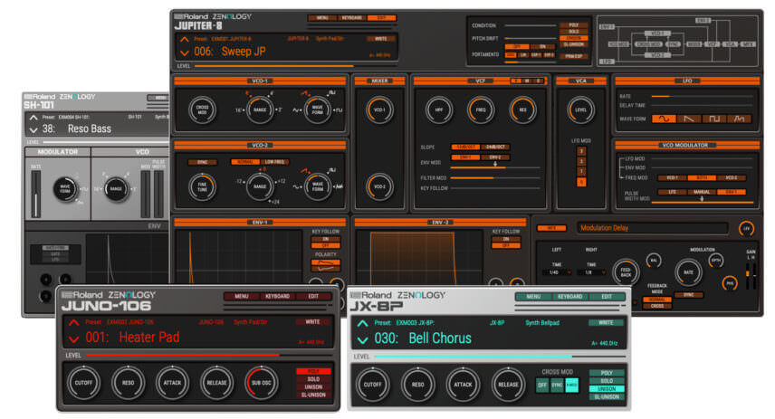 Roland Adds Four Classic Synths To Zenology